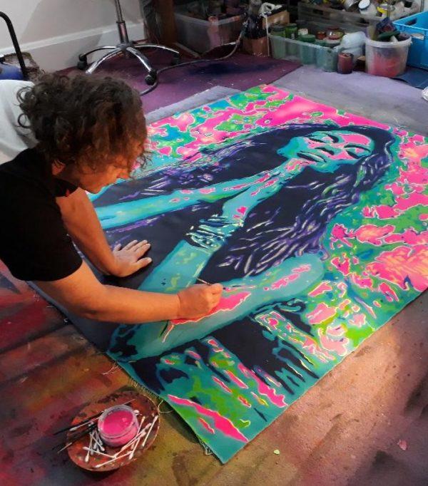 robbie studio painting