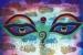 """002 """"Buddha Eyes"""", 2000, 150 x 100 cm, Acrylic on canvas"""