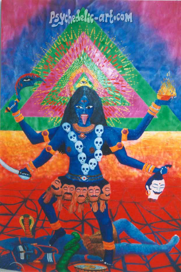 "006 ""Kali"", 2001, 200 x 145 cm, Acrylic on canvas"