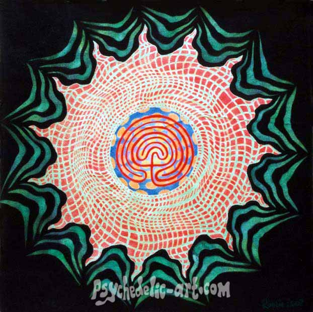 "015 ""Labyrinth Of Light"", 2002, 73cm x 73cm Acrylic on canvas"
