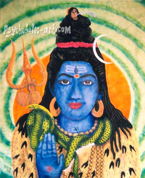 "016 ""Shiva"", 2002, 146 x 146 cm, Acrylic on canvas"