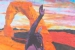 """020 """"Delicate Arch"""", 2002, 400 x 146 cm, Acrylic on canvas"""