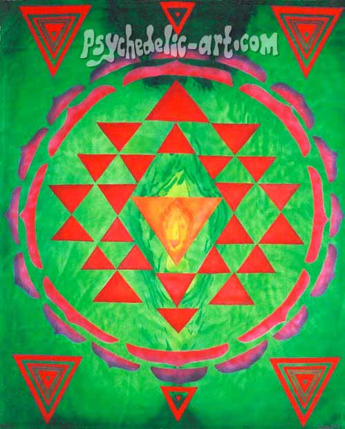 "022 ""Yoni-Yantra - 1"", 2002, 200 x 146 cm, Acrylic on canvas"