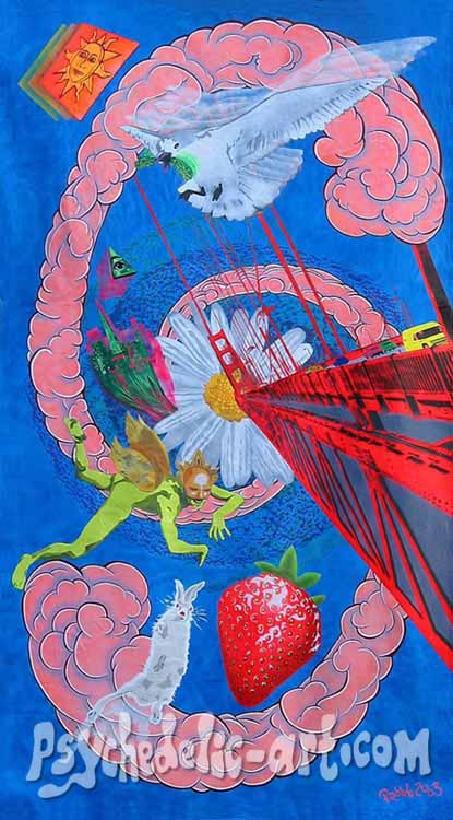 "031 ""A San Francisco Fog"", 2003, 300 x 146 cm, Acrylic on canvas"