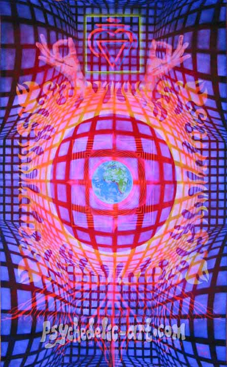 "043 ""Muladhara-Chakra"", 2004, 260cm x 146cm, Acrylic on canvas."
