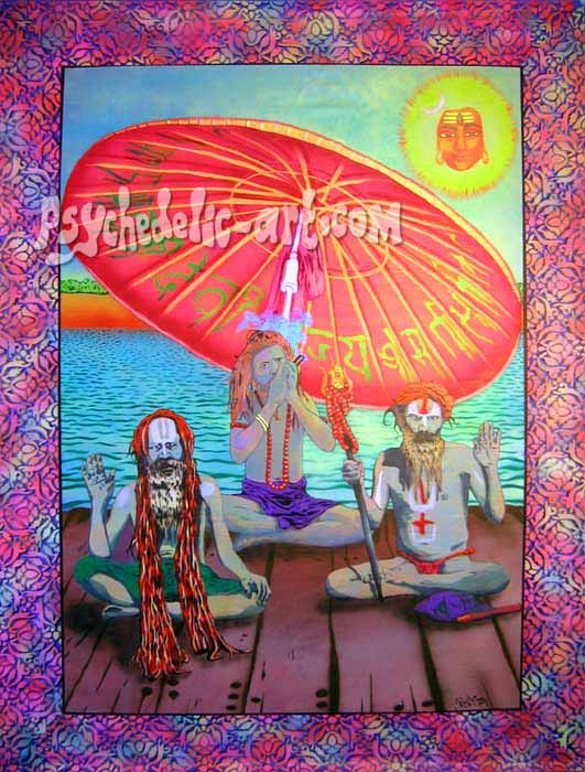 "053 ""Bhanged up in Benares"", 2004, 216cm x 165cm, Acrylic on canvas."