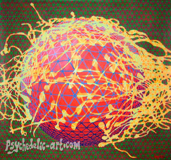 "068 ""Perception of Conception"", 2005, 163 x 165cm, Acrylic on canvas"