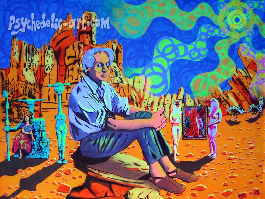 "077 ""Unwinding with Max Ernst"", 2006, 160 x 209cm, Acrylic on canvas"
