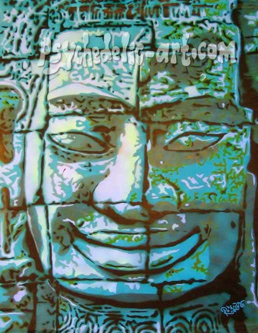 "080 ""BAYON (5-30 AM)"", 2006, 165 x 120cm, Acrylic on canvas"