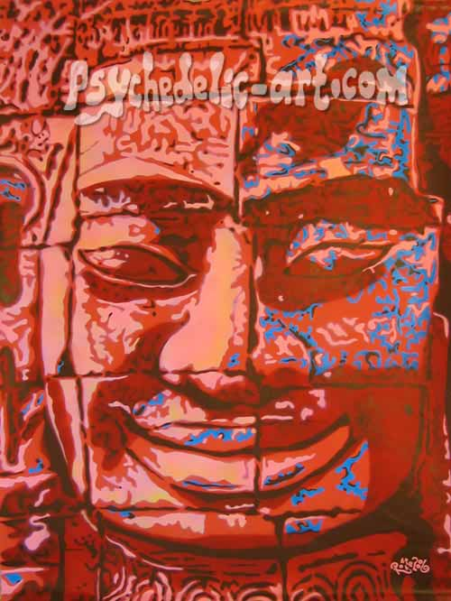 "081 ""BAYON (5-30 PM)"", 2006, 165 x 120cm, Acrylic on canvas"