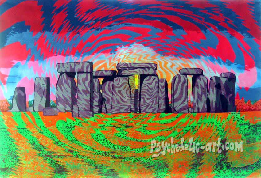 "101 ""Solstice at the Stones"", 2009, 111 x 161 cm, Acrylic on canvas"