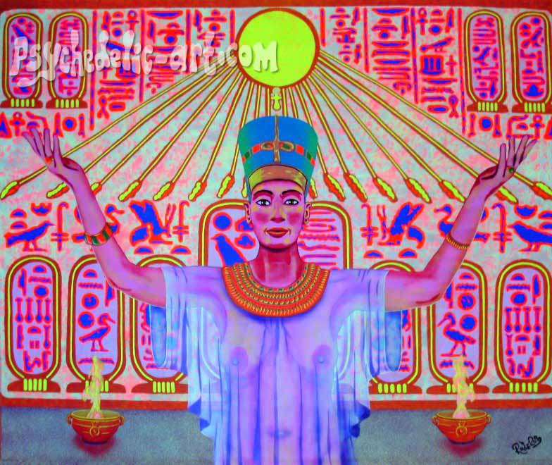 "103 ""High Priestess of Aten"", 2009, 161 x 191 cm, Acrylic on canvas"