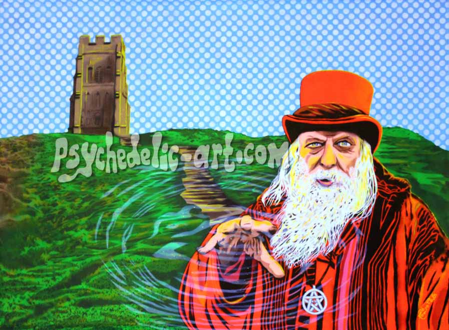 "139 ""Beltane Barley up Glastonbury Tor"" 2015, 160 x 118 cm, Acrylic on canvas"