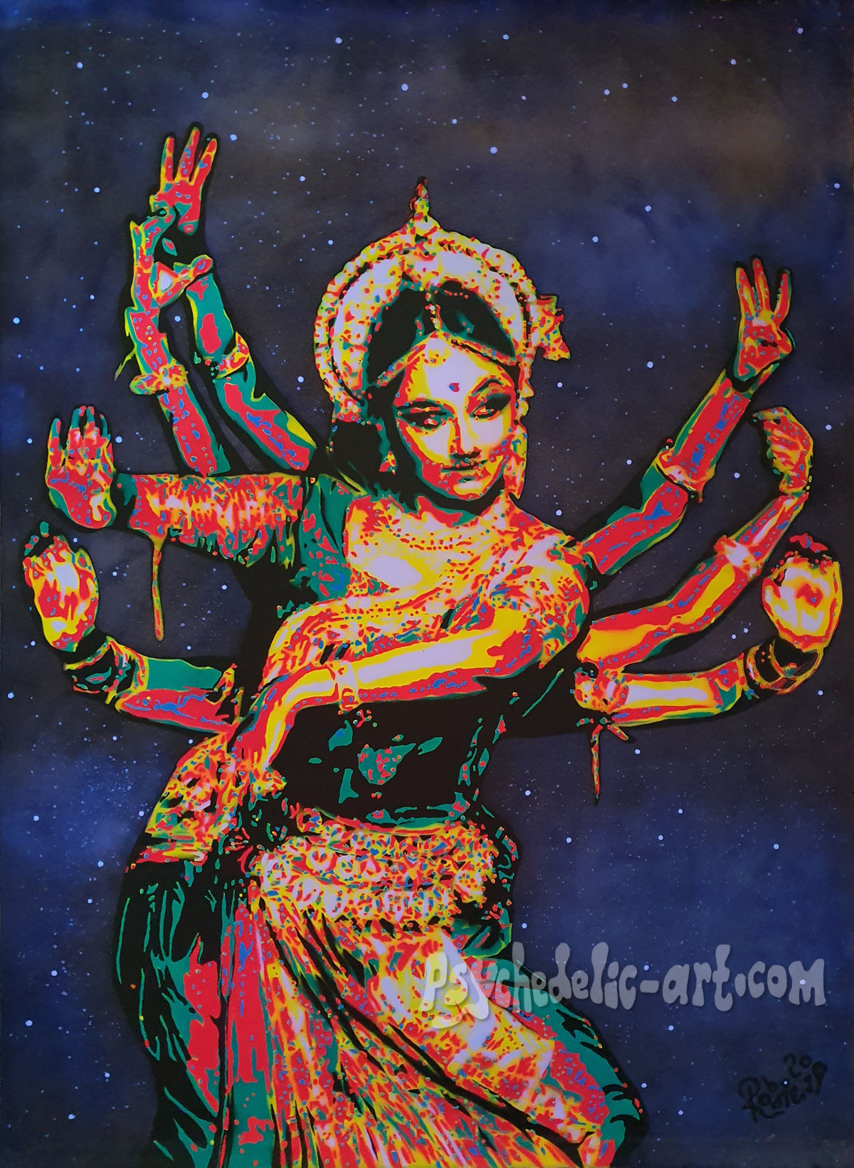 Cosmic Dancer Painting